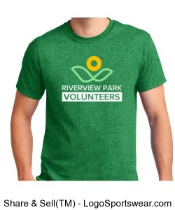 Adult Unisex Heathered Shirt - Riverview Park Volunteers Design Zoom